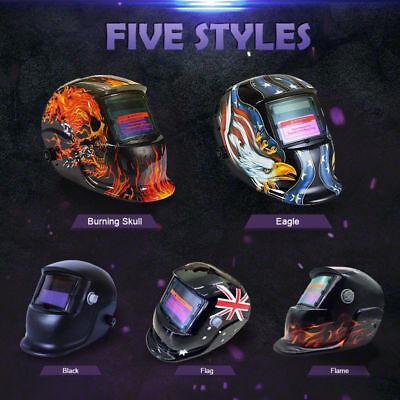 Solar Auto Darkening Welding Helmet BLACK Arc Tig Grinding Welder Mask 2