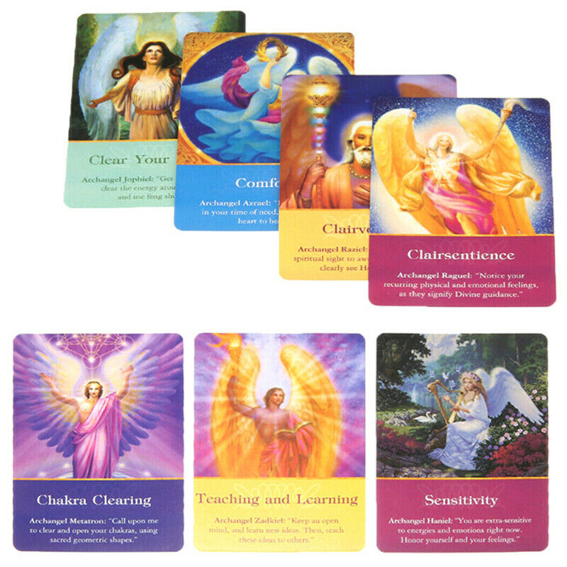 1Box New Magic Archangel Oracle Cards Earth Magic Fate Tarot Deck 45 Cards HU 5
