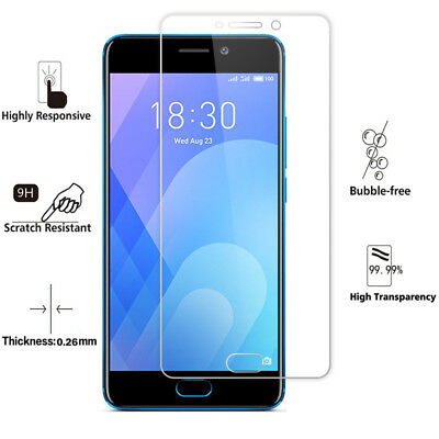 2Pcs 9H Tempered Glass Film Screen Protector Cover For Meizu M5 M6 M5Note M6Note 8