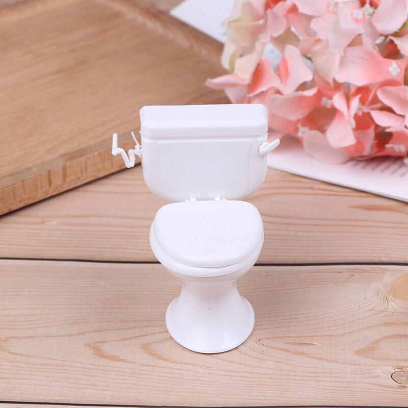 Puppenhaus Möbel Vintage Badezimmer Toilette Miniatur Spielzeug Puppen ZubeR XF