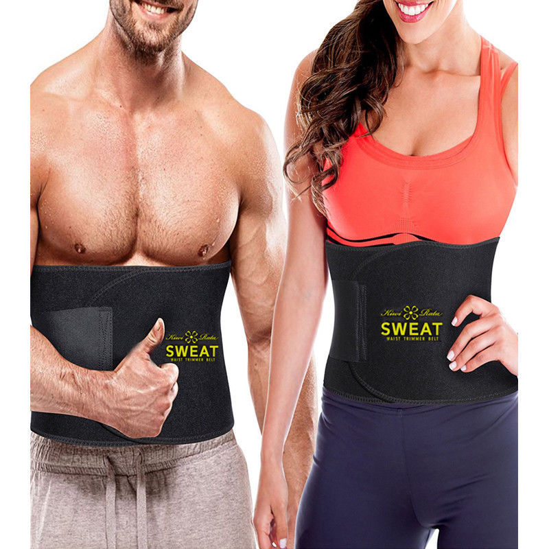 Suana Sweat Waist Trimmer Belt Wrap Stomach Slimming Fat Burn Weight Loss Body 4