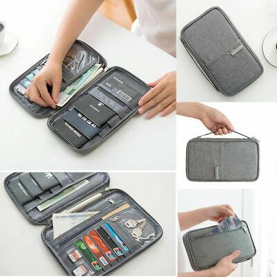 Family Passport Holder Travel Wallet Ticket Document Organiser Bag Multi-purpose 8