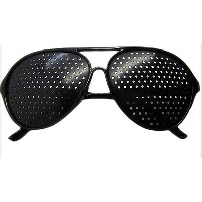 New Black Vision Care Eyesight Improver Anti-fatigue Stenopeic Pinhole Glas N8I5 3