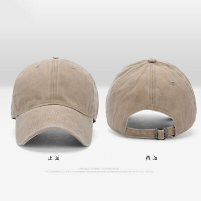 Men Plain Washed Cap Style Cotton Adjustable Baseball Cap Blank Solid Hat Casual 6