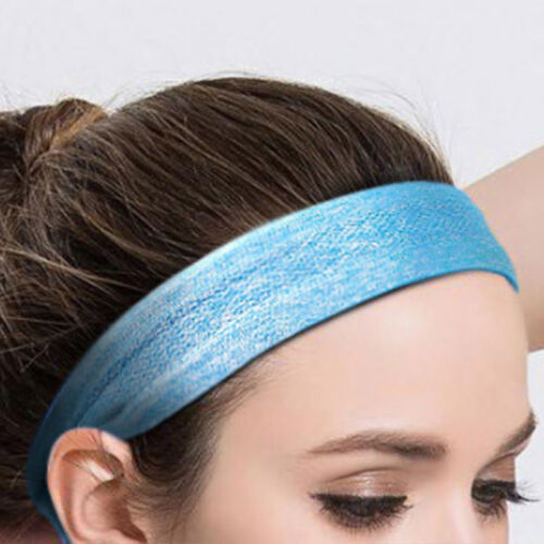 Unisex Cotton Sport Sweatband  Silicone Headband Yoga Gym Stretch Head Band 4