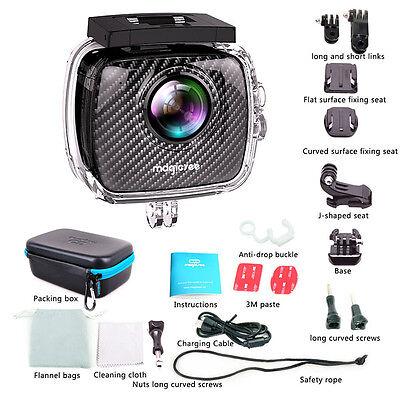 WATERPROOF 4K 360EyeS Panoramic Camera P3 VR Video Dual Lens Action Camera  Set