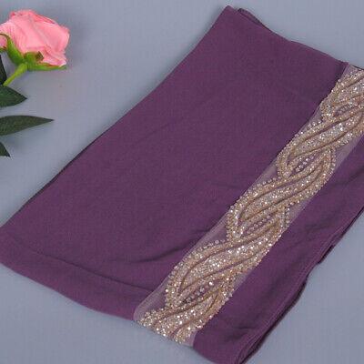 Muslim Women Hijab Rhinestone Long Scarf Islamic Shawls Head Wrap Scarves Shayla 5