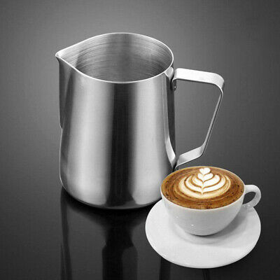 Stainless Steel Milk Frothing Jug Frother Coffee Latte Container Metal Pitcher 4