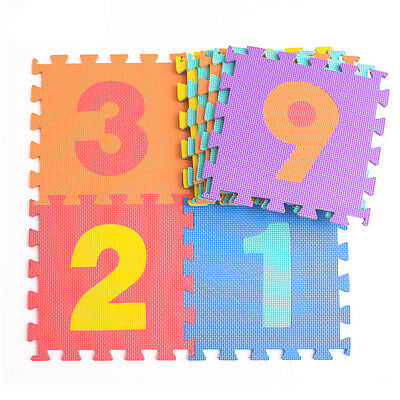10 x Baby Soft EVA Foam Play Mat Alphabet Numbers Puzzle DIY Toy Floor Tile Game 6