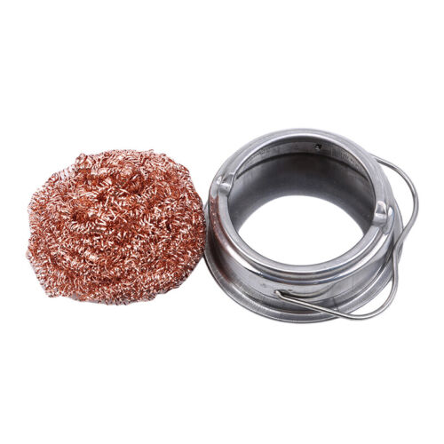 Soldering Stainless Steel Tip Cleaning Wire Nozzle Cleaner Sponge Ball Holder DS 4