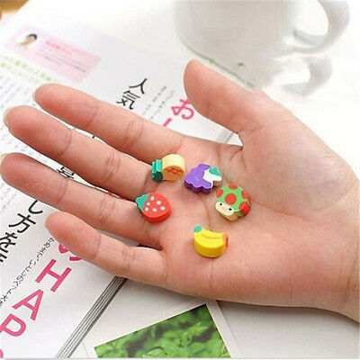 50pcs Cute Mini Fruit Rubber Pencil Eraser For Children Stationery/Gift/Toy New 4