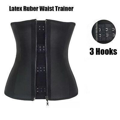 ff57bd4e86cbf ... UK Women Waist Trainer Latex Belt Zipper Body Shaper Zip Corset Girdle  Slim Belt 5