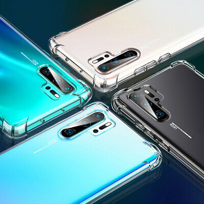 For Huawei P30 Pro Mate 20 Transparent Airbag Shockproof Silicone Case Cover 10