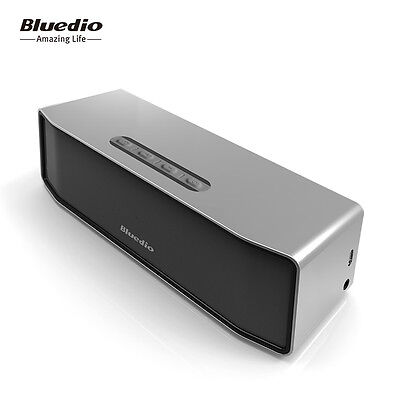 NEW BLUEDIO BS-2 Bluetooth 4.1 Wireless Subwoofer HiFi Speaker 3D Stereo(Silver) 5