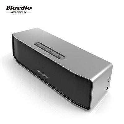 NEW BLUEDIO BS-2 Wireless Speakers Bluetooth 4.1 Portable Stereo Soundbar Woofer 5