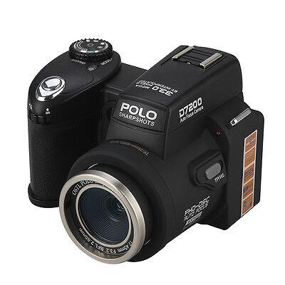 Appareil photo numérique POLO D7200 33MP 1080P +3 objectif large +projecteur LED 4