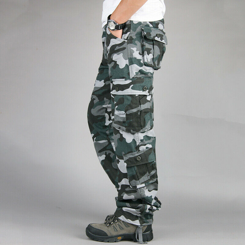 Mens Military Combat Trousers Camouflage Cargo Camo Army Casual Work Long Pants 4