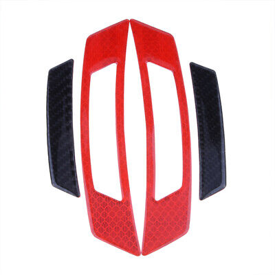 2PCS Red Reflective Carbon Fiber Car Side Door Edge Protector Guard Sticker 6