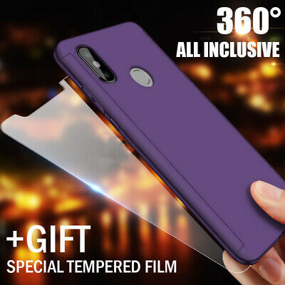 For iPhone 11 Pro Max XS XR 7 8 Plus 360° Full Cover Hybrid Case+Tempered Glass 5