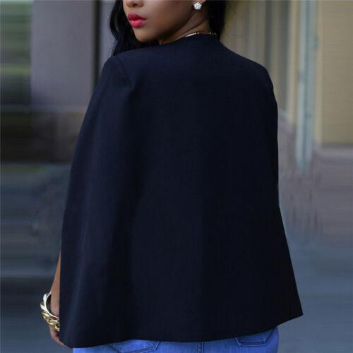 Mode Femmes Slim revers Cape Casual Business Blazer Costume Veste Manteau OuYJFR