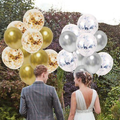 10 Pièces / Lot Chrome Confettis Ballons Bouquet Fête D'Anniversaire Décor 4