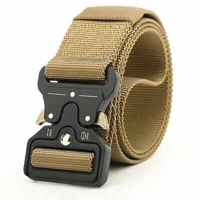 Men/'s Military Outdoor Sports Military Tactical Nylon Waistband Belt Fashio C4X3