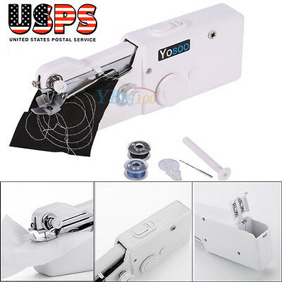 Hand Held Sewing Machine Portable Electric Stitch Mini Cordless Fabric Battery 2