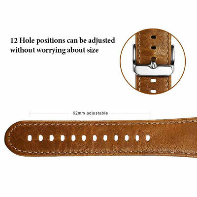 Genuine Leather Strap Band for iWatch Apple Watch 3 2 1 38mm/40mm 42mm/44mm 3