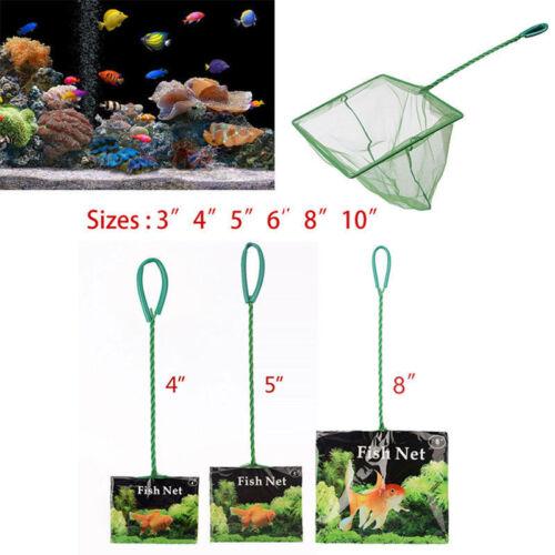 "Useful Small Big Aquarium Fish Tank 3"" 4"" 5"" 6"" 8"" 10"" Fish Net Cold Water Scoop 2"