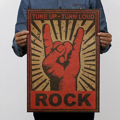 Pop Music Rock Band Stars Retro Kraft Paper Poster Bar Pub Wall Decor 5