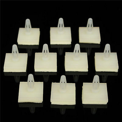 100x Nylon Plastic 4mm PCB Boards Locking Snap-In Posts Spacer Standoff 3.5-22mm