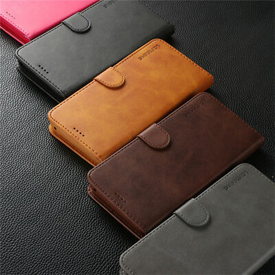 For Samsung Galaxy S10 S9 S8 Plus A8 A7 Magnetic Flip Leather Wallet Case Cover 12
