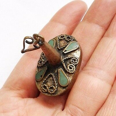 RARE Old intaglio Antiques Alexandra The Persian Wars Carving Turquoise Stamp 8