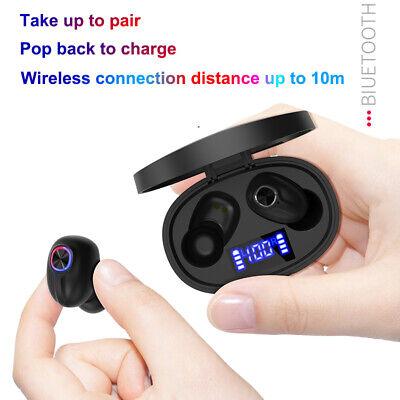 Bluetooth 5.0 Headset TWS Wireless Earphones Mini Earbuds Stereo Headphones IPX7 6