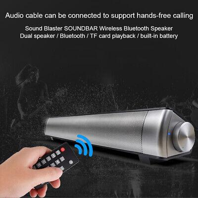 Wireless Bluetooth Sound Bar Speaker Super Bass Stereo Home TV Subwoofer System 2