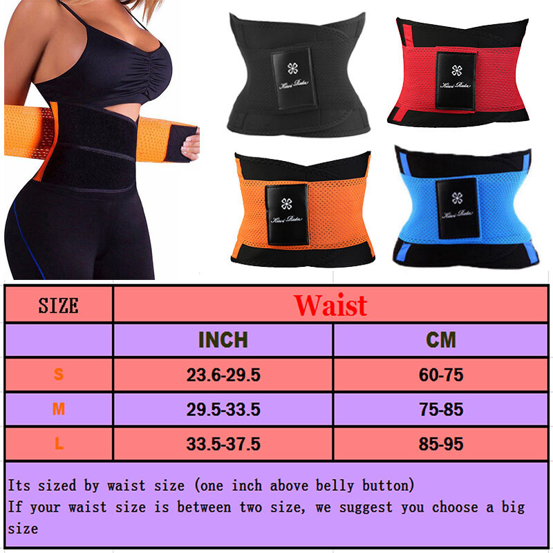 3497d9212e6 Womens Body Shaper Hot Slimming Sport Thermo Faja Trimmer Gym Workout Power  Belt 2 2 of 12 ...
