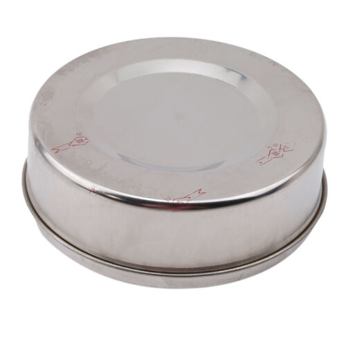 Portable Stainless Steel Ashtray Lid Rotation Cigarette Smoking Ash Holder Small 6