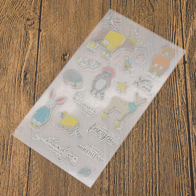 Various Silicone Clear Stamp Transparent Rubber Stamps DIY Scrapbooking Craft 3