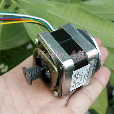 Minebea NEMA 17 42MM Stepper Motor Bracket Pulley Gear for 3D Printer CNC RepRap 9