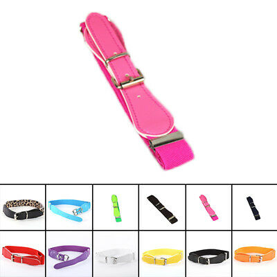 Toddler Candy Color Waist Belt Buckle PU Leather Kids Girls Boys Waistband Newly 7