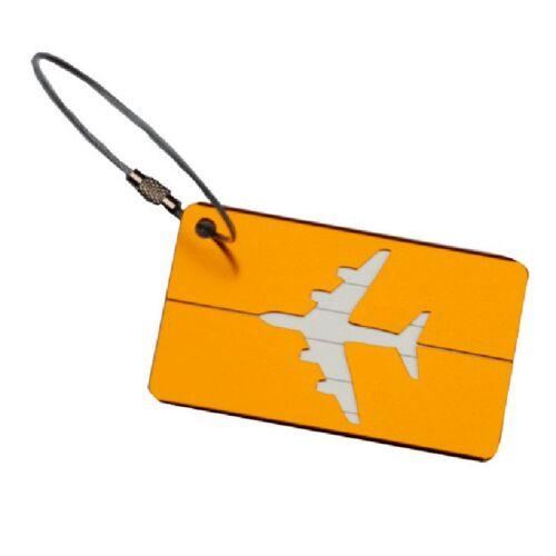 Aluminium Travel Luggage Baggage Tag Suitcase Identity Address Name Label 12