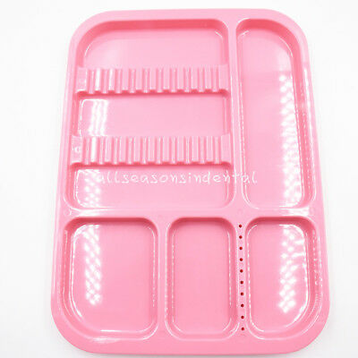 Dental Sterilized Autoclavable 135° Divided Tray Plastic Separate 245x340x2mm 5