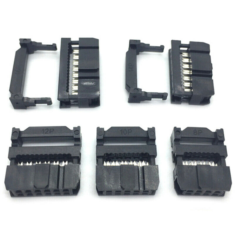 10x 6/8/10/12/14-50Pin IDC Socket Plug Ribbon Cable Connector 2.54mm Pitch xiSBF 6