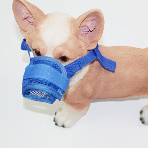 Pets Dog Puppy Muzzle Mesh Nylon Adjustable Bite Anti No Mask Mouth Barking Bark 2
