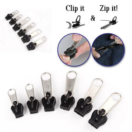 6 Stück Fix Ein Reißverschluss Schieber Rettung Instant Reparaturset Ersatz Neu