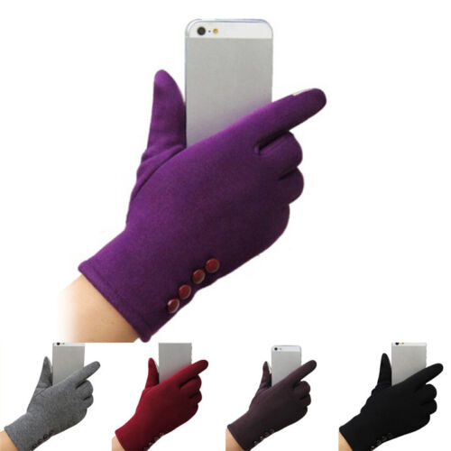 New Womens Touch Screen Gloves Winter Sport Outdoor Warm Leather Gloves 2 HsTEUS 2