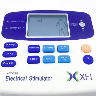 XFT-320A Pain Relief Massager Acupuncture Pen Physio Tens Machine Extra Pads 10