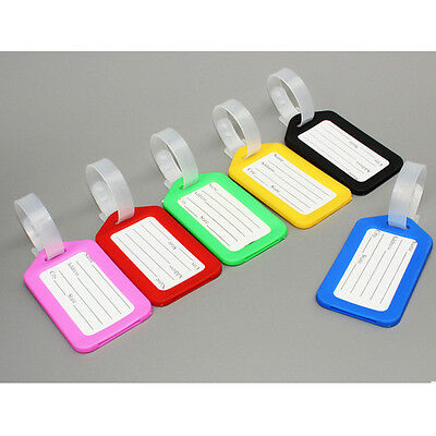 3pcs Travel Luggage Bag Tag Name Address ID Label Plastic Suitcase Baggage Tags 7