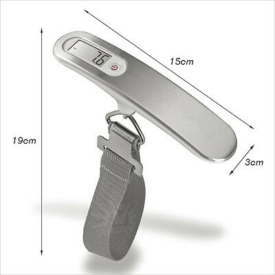 Electronic Portable Digital Luggage Scale Travel 50 KG Measures Weight Weighing 3