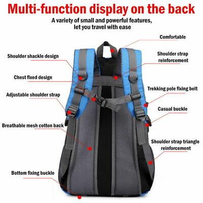 40 Liter Waterproof Outdoor Sports Bag Backpack Travel Hiking Camping Rucksack 2